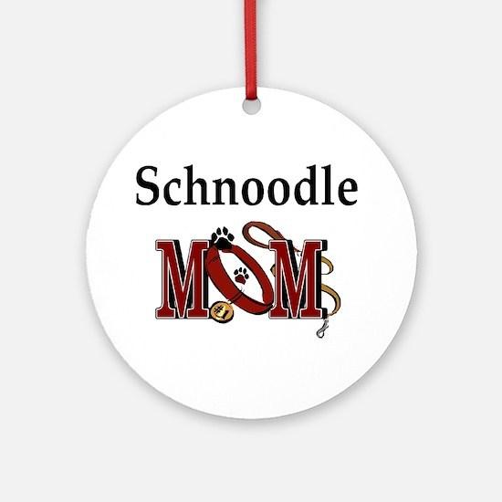 Schnoodle Mom Ornament (Round)