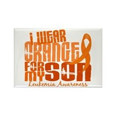 I Wear Orange 6.4 Leukemia Rectangle Magnet