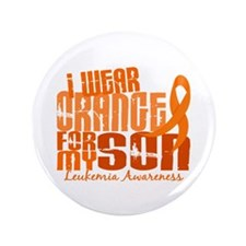 "I Wear Orange 6.4 Leukemia 3.5"" Button (100 pack)"