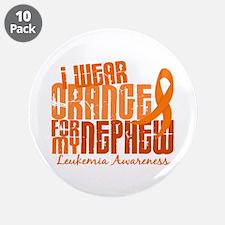 "I Wear Orange 6.4 Leukemia 3.5"" Button (10 pack)"