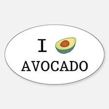 I Love Avocado Decal