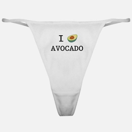 I Love Avocado Classic Thong