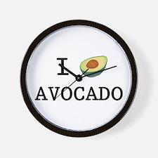 I Love Avocado Wall Clock