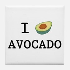 I Love Avocado Tile Coaster