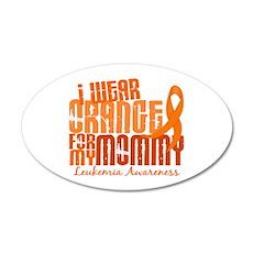 I Wear Orange 6.4 Leukemia 22x14 Oval Wall Peel
