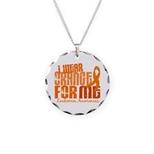 I Wear Orange 6.4 Leukemia Necklace