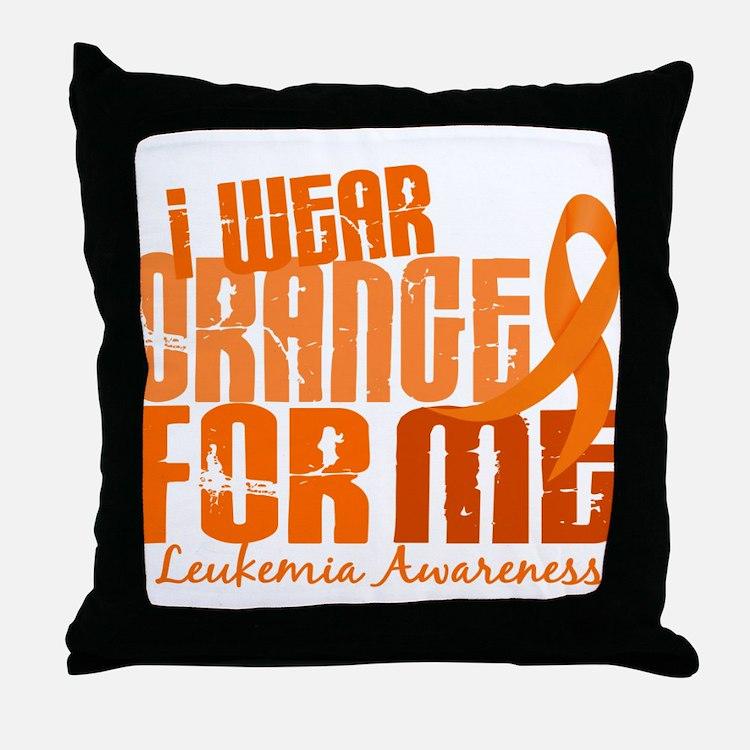 I Wear Orange 6.4 Leukemia Throw Pillow