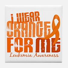 I Wear Orange 6.4 Leukemia Tile Coaster