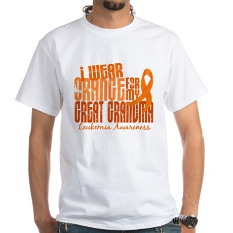 I Wear Orange 6.4 Leukemia White T-Shirt