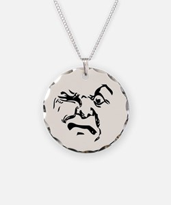 Angry Man In The Moon Necklace