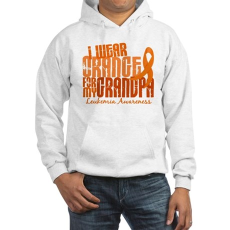 I Wear Orange 6.4 Leukemia Hooded Sweatshirt