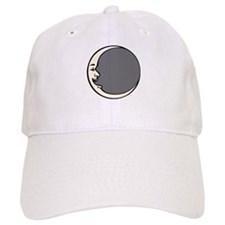 Crescent Face Moon Circle Baseball Cap