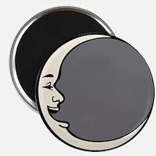 Crescent Face Moon Circle Magnet