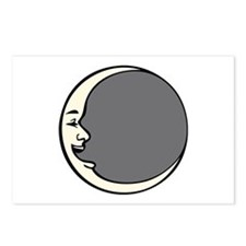 Crescent Face Moon Circle Postcards (Package of 8)