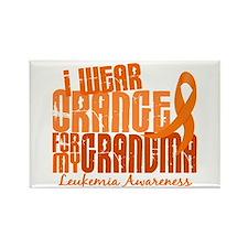 I Wear Orange 6.4 Leukemia Rectangle Magnet