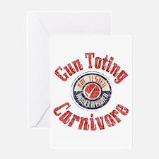 Gun Toting Carnivore Seal Greeting Card