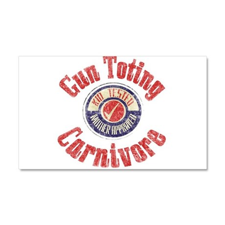 Gun Toting Carnivore Seal Car Magnet 12 x 20