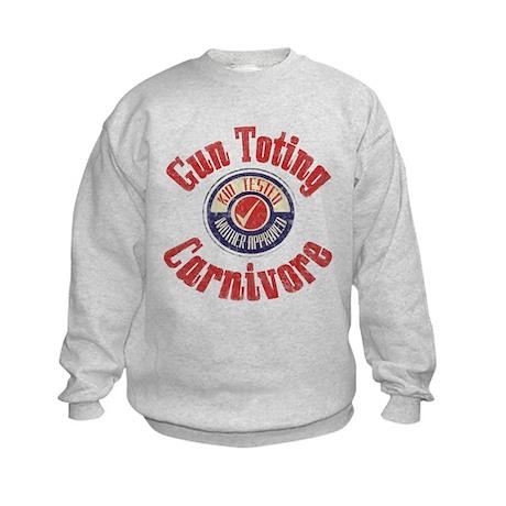Gun Toting Carnivore Seal Kids Sweatshirt
