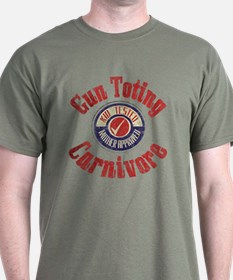 Gun Toting Carnivore Seal T-Shirt