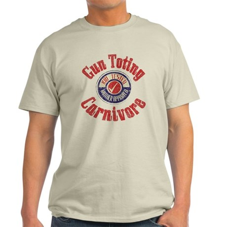 Gun Toting Carnivore Seal Light T-Shirt