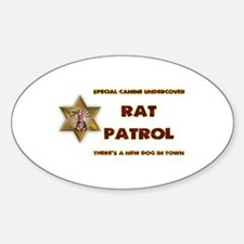 Rat Patrol Sticker (Oval)