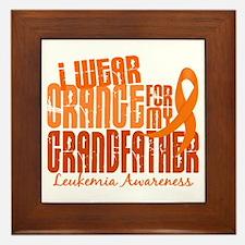 I Wear Orange 6.4 Leukemia Framed Tile