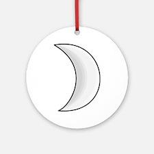 Silver Moon Crescent Ornament (Round)