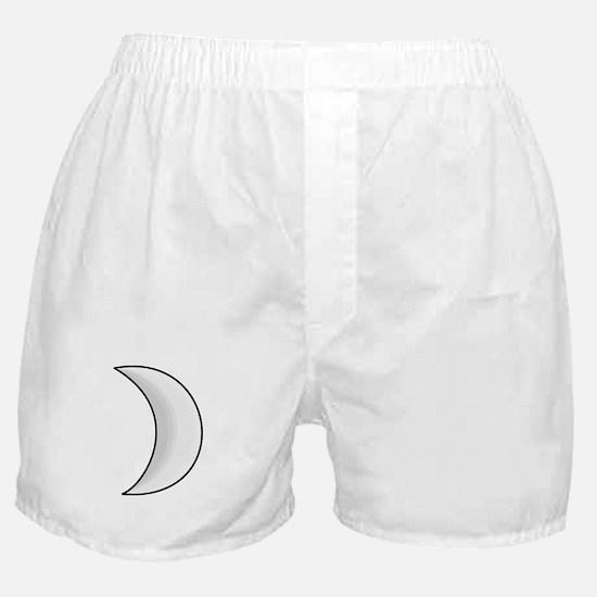 Silver Moon Crescent Boxer Shorts