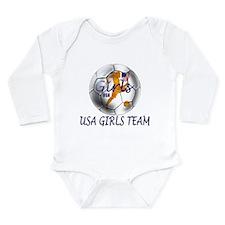 USA Girls Team Long Sleeve Infant Bodysuit