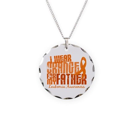 I Wear Orange 6.4 Leukemia Necklace Circle Charm