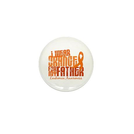 I Wear Orange 6.4 Leukemia Mini Button