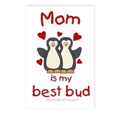 Mom is my best bud Postcards (Package of 8)
