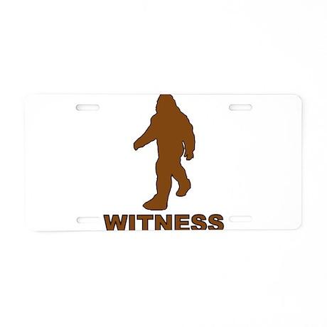 BIg Foot Witness Aluminum License Plate