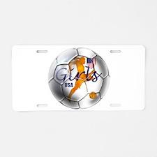 US Girls Soccer Ball Aluminum License Plate
