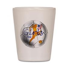 US Girls Soccer Ball Shot Glass