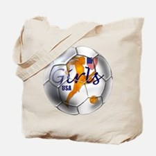 US Girls Soccer Ball Tote Bag