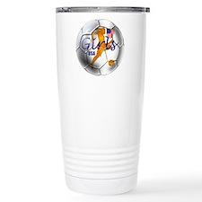 US Girls Soccer Ball Travel Mug