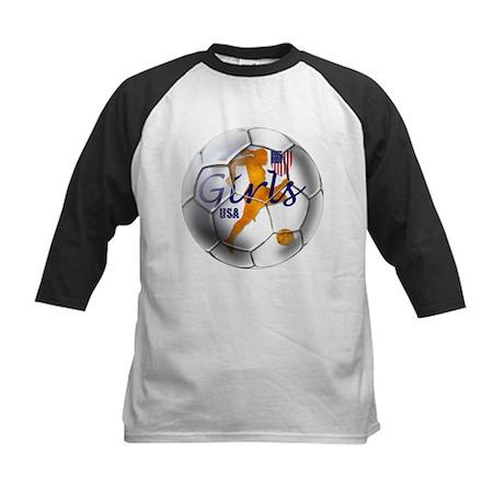 US Girls Soccer Ball Kids Baseball Jersey