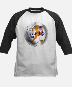 US Girls Soccer Ball Tee
