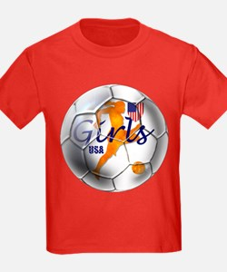 US Girls Soccer Ball T