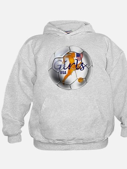US Girls Soccer Ball Hoody