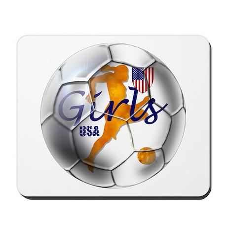 US Girls Soccer Ball Mousepad