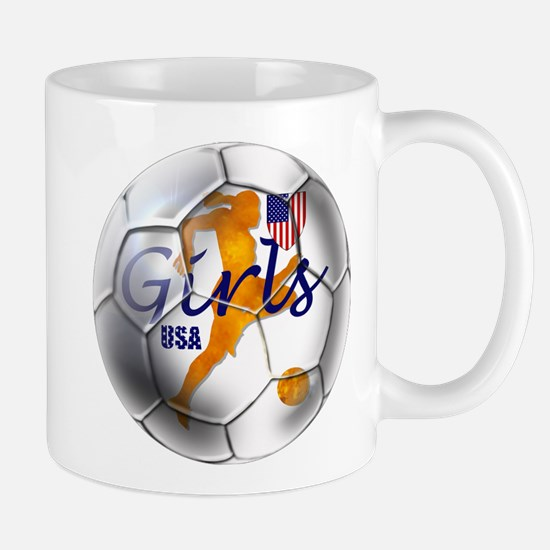 US Girls Soccer Ball Mug