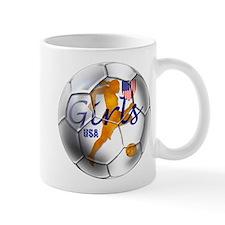 US Girls Soccer Ball Small Mug