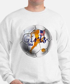 US Girls Soccer Ball Sweatshirt