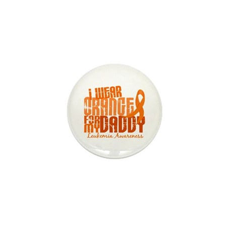 I Wear Orange 6.4 Leukemia Mini Button