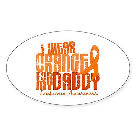 I Wear Orange 6.4 Leukemia Sticker (Oval 10 pk)