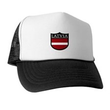 Latvia Patch Trucker Hat