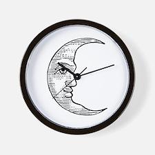 Vintage Crescent Moon Wall Clock