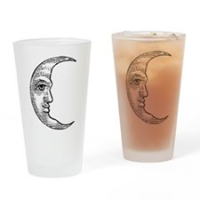 Vintage Crescent Moon Pint Glass